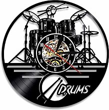 Gymqian Wall Clock Personalized Drummer Drum Wall
