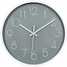 Gymqian Wall Clock,Sayaty 12In Non-Ticking Silent