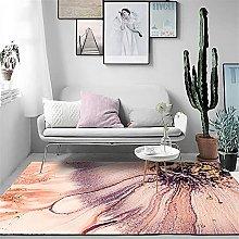 GYMS Modern Carpet, Art Abstract Pink Petals Rug,