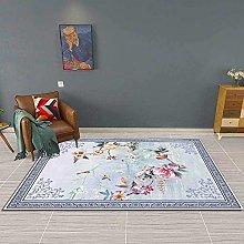 GYMS Modern Carpet, Beautiful Flowers, Birds,