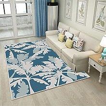 GYMS Modern Carpet, Fresh Leaf Blue Rug, for