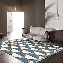 GYMS Modern Carpet, Light Luxury Blue And White