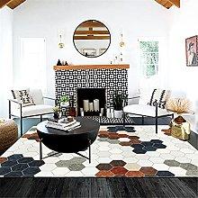 GYMS Modern Carpet, Multicolor Mosaic Square White