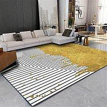 GYMS Modern Carpet, Simple Geometric Stitching