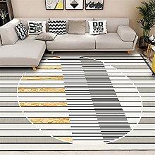 GYMS Modern Carpet, Simple Round Geometric