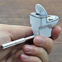 Gyratedream Mini Toilet Metal Pipe Smoking Pipe