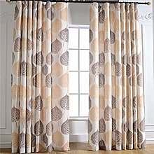 Gyrohome Floral Blackout Curtain Autumn Natural