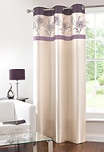 GYROHOME Fully Lined Faux Silk Blackout Curtain