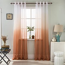 GyroHome Gradient Color Tulle Voile Sheer Curtains