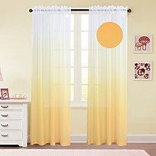 GYROHOME Polyester Sheer Curtain Energy Saving