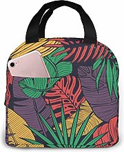 GYTHJ Cool Floral Lunch Bag Tote Bag,Work Picnic