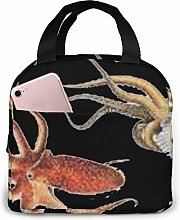 GYTHJ Cool Giant Squid Lunch Bag,Reusable