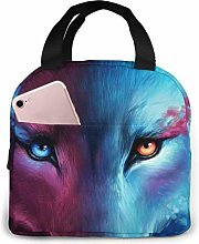 GYTHJ Cool Wolf Lunch Bag,Reusable Insulated Lunch
