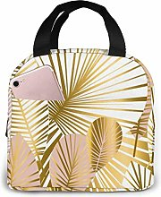 GYTHJ Gold and Pale Rose Lunch Bag Tote Bag,Work