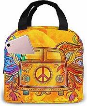 GYTHJ Hippie Vintage Car A Mini Van Lunch Bag Tote