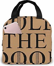 GYTHJ Hold The Door Cool Lunch Bag,Reusable