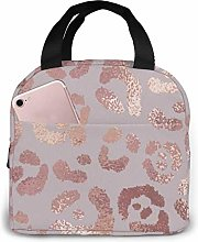 GYTHJ Leopard Skin Rose Gold Reusable Insulated