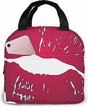 GYTHJ Lipstick Purple Lunch Bag Tote Bag,Work