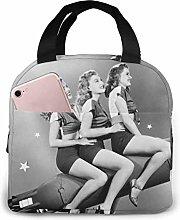 GYTHJ Marilyn Monroe Sitting On A Rocket Lunch Bag