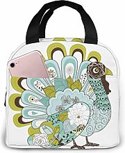 GYTHJ Thanksgiving Reusable Insulated Lunch Bag