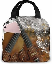 GYTHJ Violin Reusable Insulated Lunch Bag