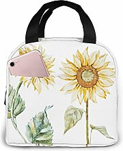 GYTHJ Watercolor Sunflower Yellow Flowers Lunch