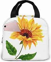 GYTHJ Watercolor Yellow Sunflower Lunch Bag Tote