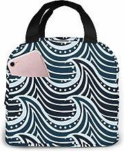 GYTHJ Wave Reusable Insulated Lunch Bag