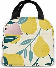 GYTHJ Yellow Pea Lunch Bag Tote Bag,Work Picnic
