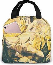 GYTHJ Yellow Roses Reusable Insulated Lunch Bag