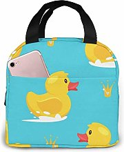 GYTHJ Yellow Rubber Duck Lunch Bag Tote Bag,Work