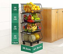 GYXZZ Storage Baskets,Kitchen Storage Trolley cart