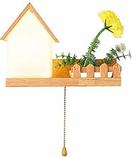 GYZLZZB Indoor Imitation House Wall Lamp, Pull