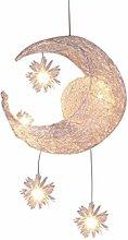 GYZLZZB Modern Moon Shape LED Chandelier, G4