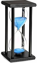 GZFTM 20 Minute Hourglass, Wooden Black Stand