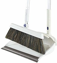 H.aetn Broom and Dustpan Set Upright Long-Handled
