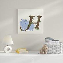 H Canvas Art HoneyBee Nursery