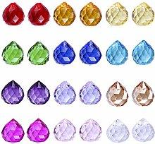 H&D Multi-Color Crystal Rainbow Suncatcher Glass