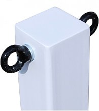 H/D White 100P Removable Security Post with 2 x