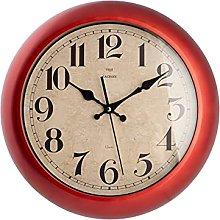 H&H Wall Clock, red, Diametro 37 cm