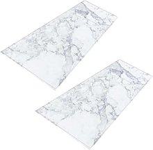H HILABEE 2x Marble Pattern Door Mat Hallway
