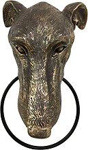 H HILABEE Antique Dog Head Door Knocker, Resin