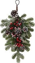 H HILABEE Christmas Teardrop Swag for Front Door,