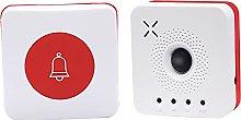 H HILABEE Wireless Doorbell 1 Push Button Battery