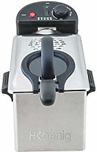 H.Koenig DFX300 Stainless Steel Deep Fryer, 2100