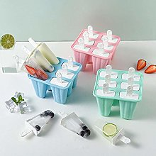 H&L 6 Pcs Silicone Ice Lolly Moulds Ice Lolly