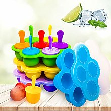 H&L Ice Lolly Ice Cream Moulds 7 Pcs with Big