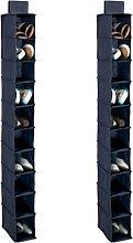 H & L Russel 2 x 10 Pocket Navy Hanging Shoe