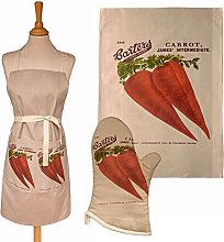 H & L Russel Apron, Tea Towel and Oven Mitt