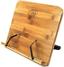 H&S Book Stand Bamboo Recipe Cookbook Holder Stand